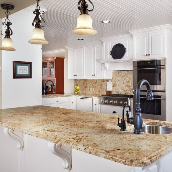 granit kitchen table bar in brown motif