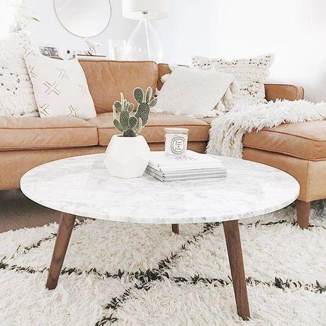 marble oak coffee table