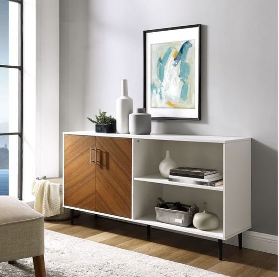 mix color mid century sideboard