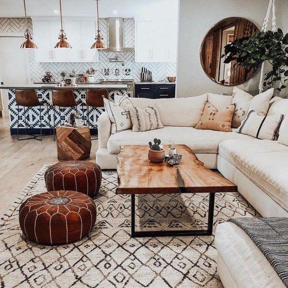 moroccan bohemian living room