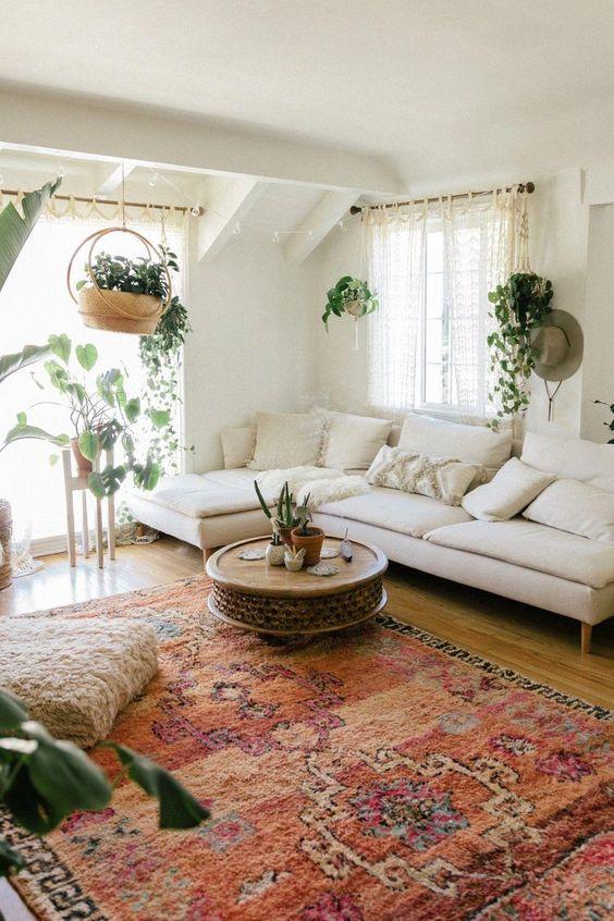 scandinavian bohemian living room