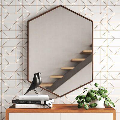 mid century hexagon mirror