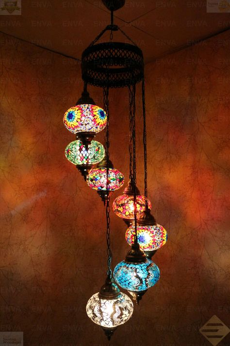turkish mosaic hanging lamp