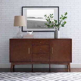 wood color sideboard
