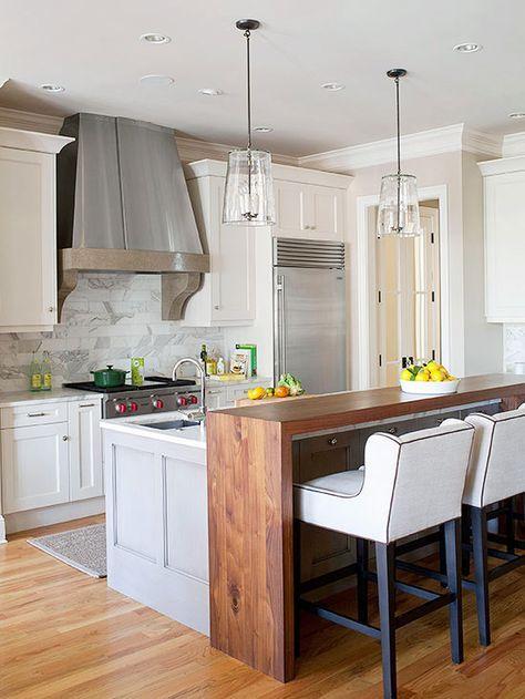 wood table kitchen bar