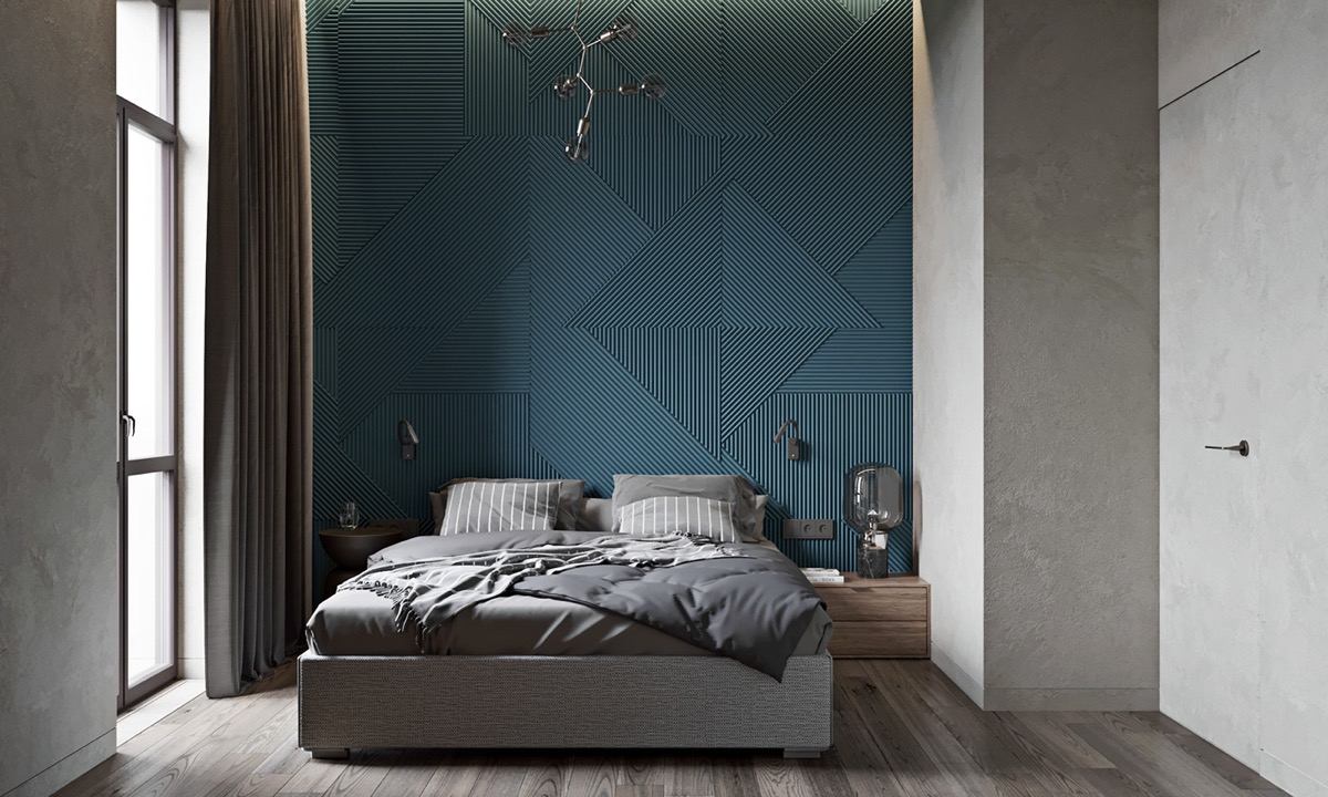 Gray and Blue interior