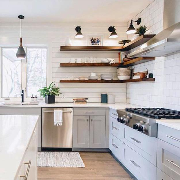 Kitchen Design with Wall Shelf