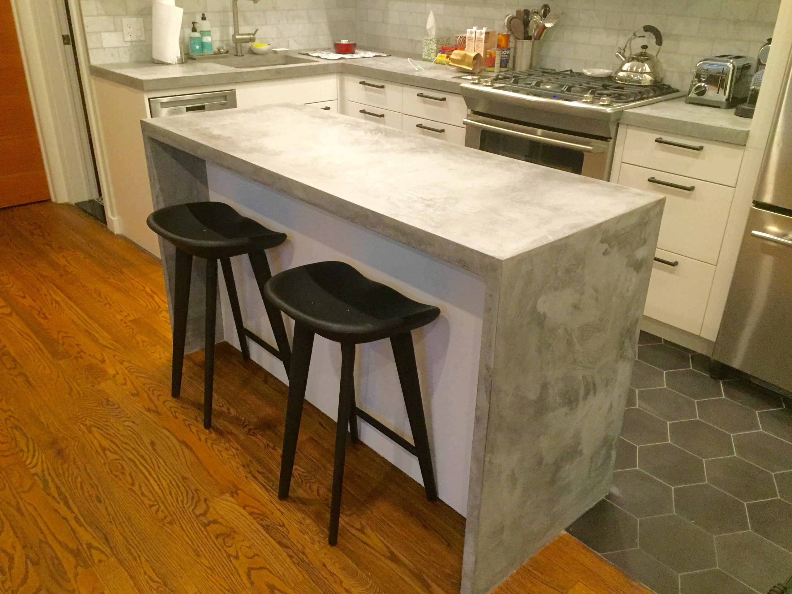 Kitchen with Concrete Table