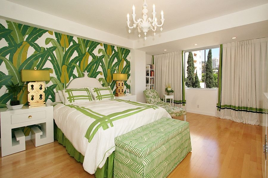 Leaves Motif Wallpaper