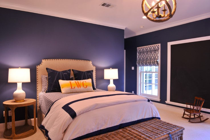 Navy Blue and Purple Color