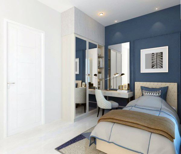 Navy Blue and White Color