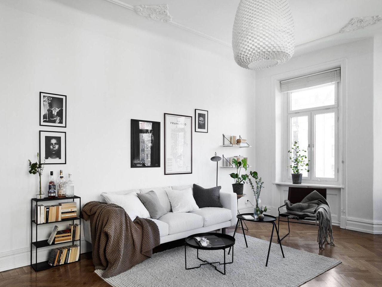 Scandinavian white living room