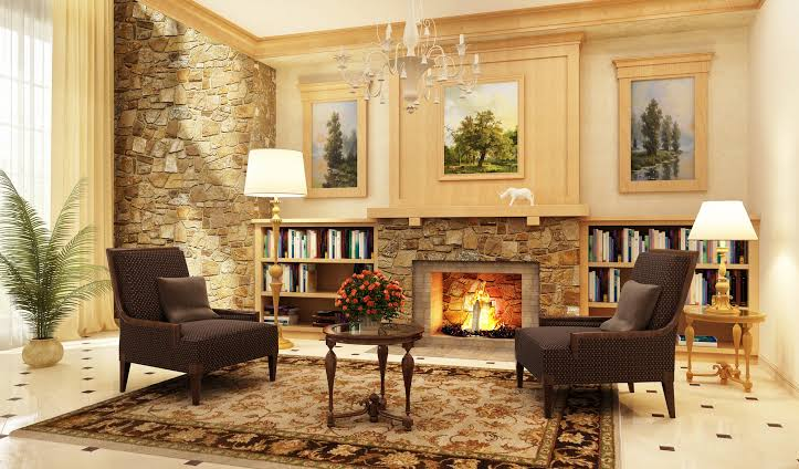 Aesthetic Stone Fireplace (2)
