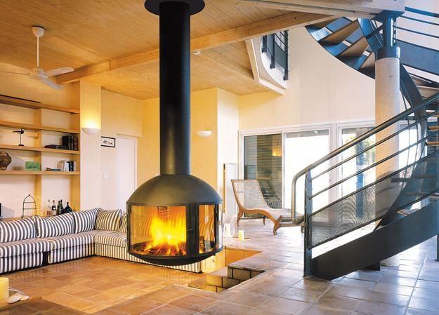Floating Fireplace Design