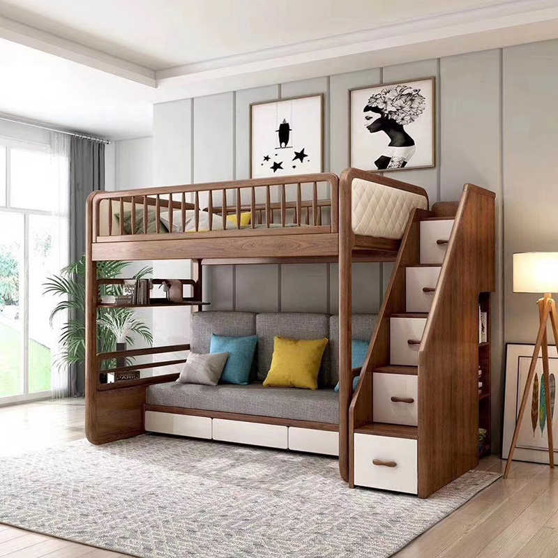 Multifunctional Room Design with Bunk Bed