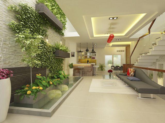 Natural Wallpaper Using Ornamental Plants