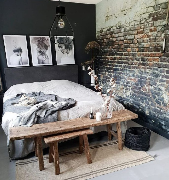 Grunge Interior Design with Industrial Style