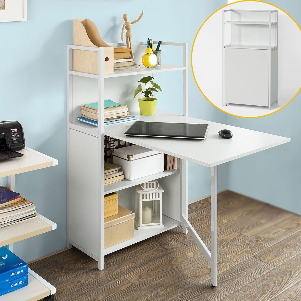 Folding Table With Shelves