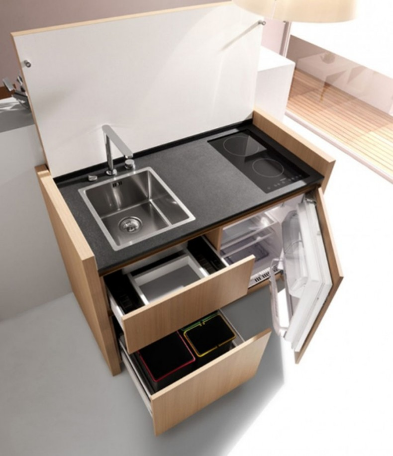 Kitchen with Multifunctional Furniture
