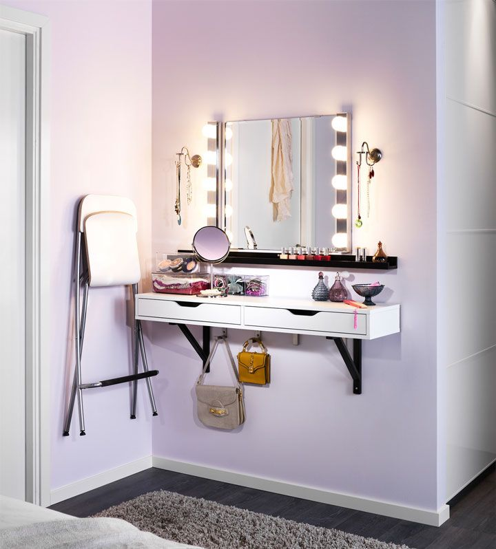 Dressing Table with Hanging Shelf