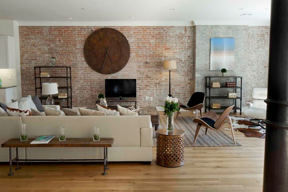 Industrial Style with Exposed Bricks