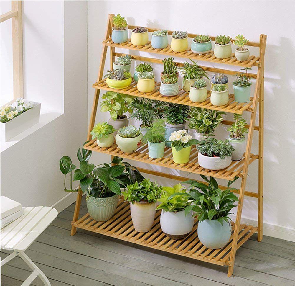 Leveled Ornamental Plant Rack