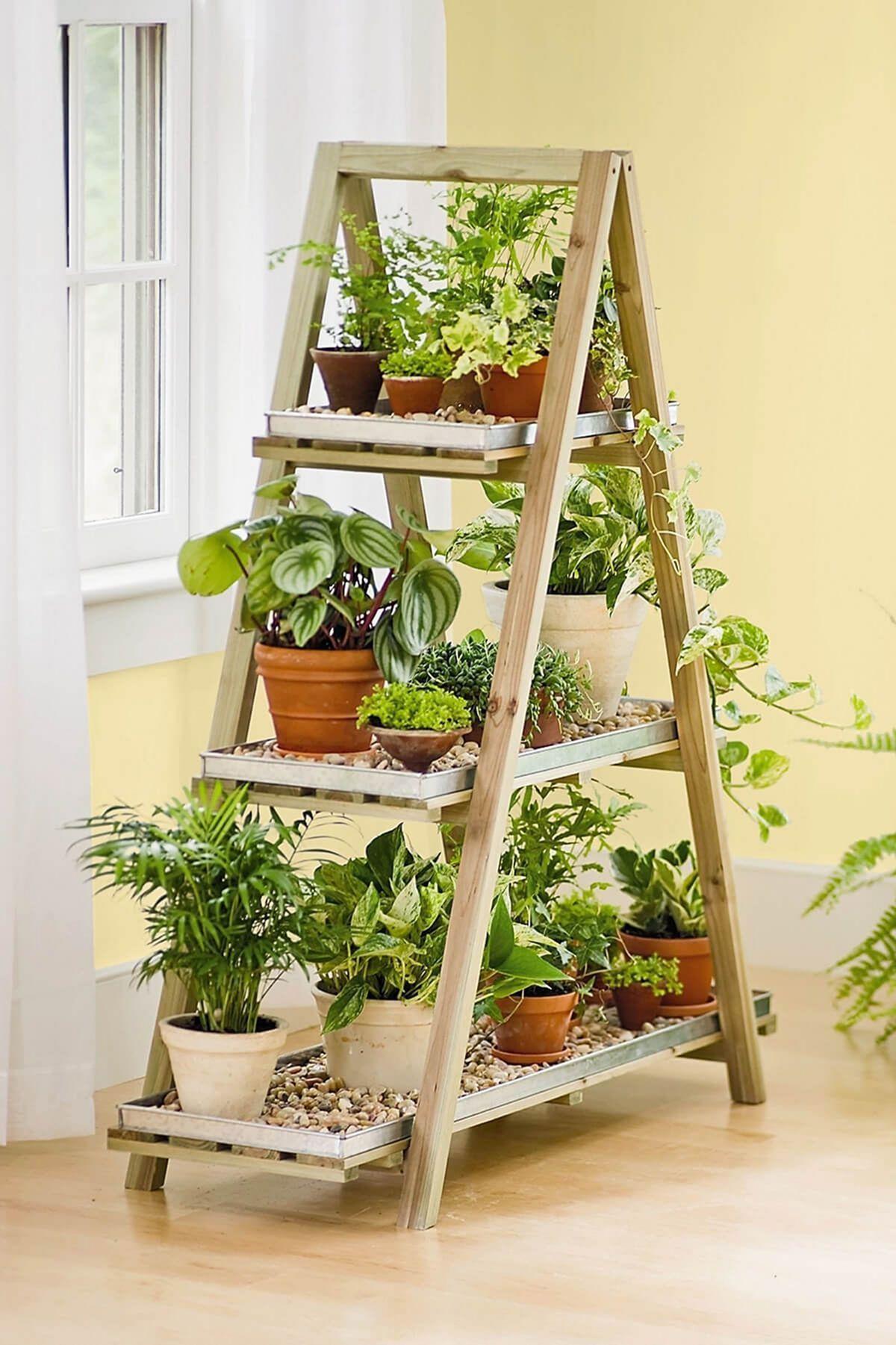 Pyramid Shaped Ornamental Plant Rack