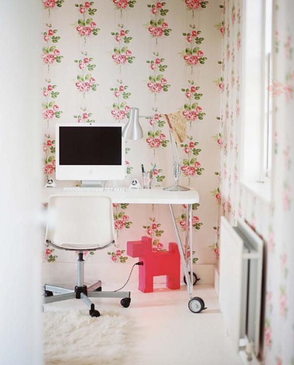 Minimalist Shabby Chic Workspace