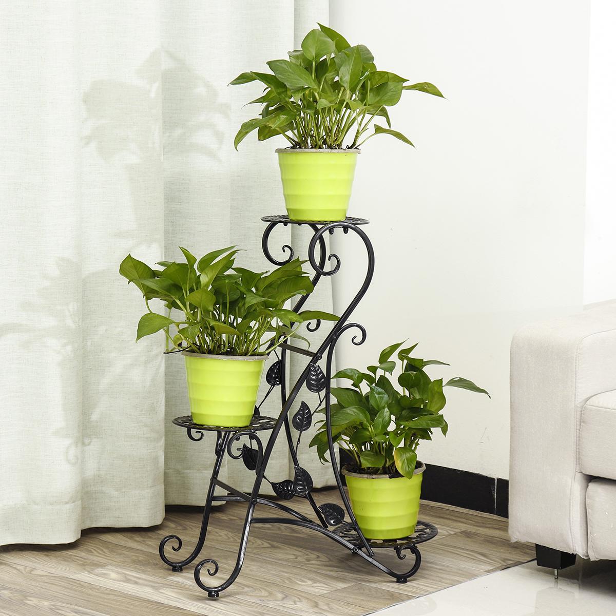Unique Shape Ornamental Plant Rack