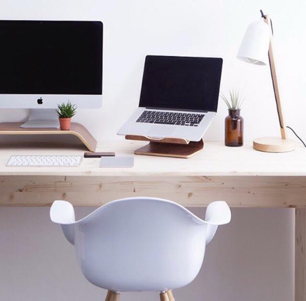 Minimalist Wooden Workspace