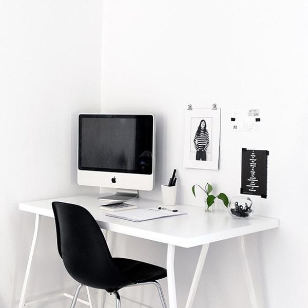 White Minimalist Workspace