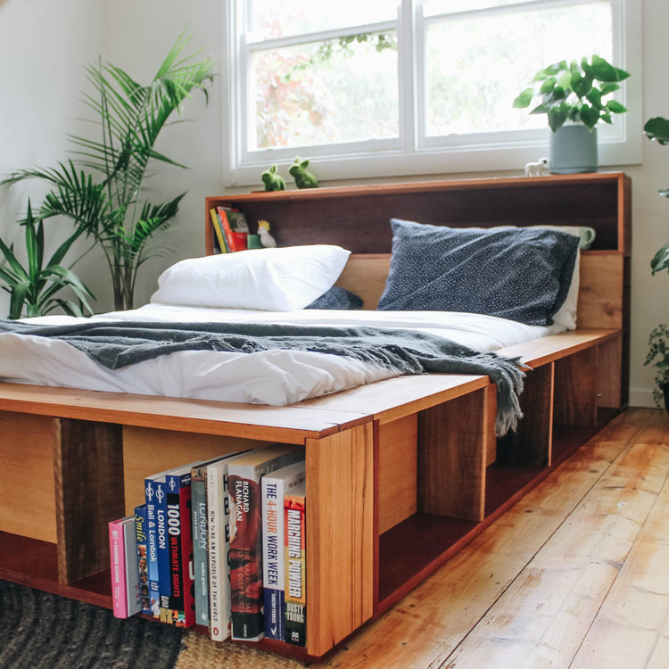 Bookshelf in a Multifunctional Bed