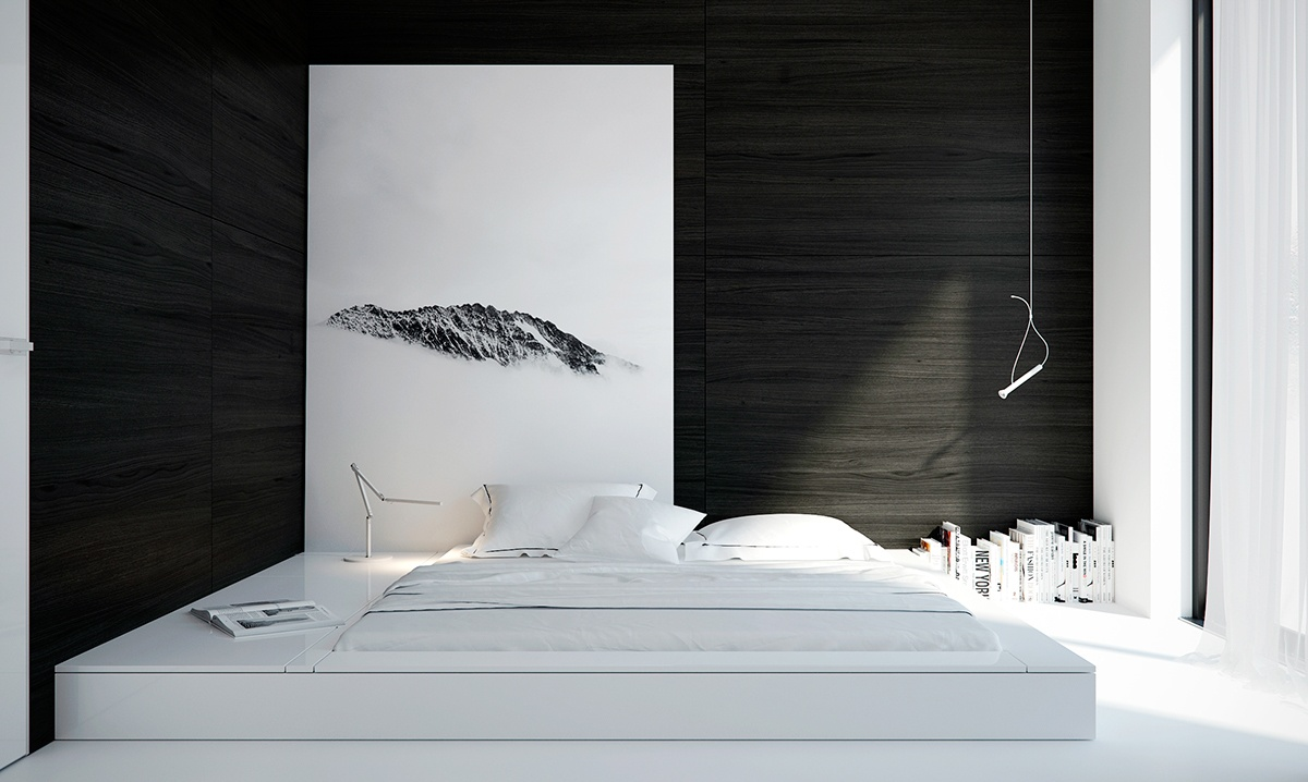 Bold Minimalist Bedroom