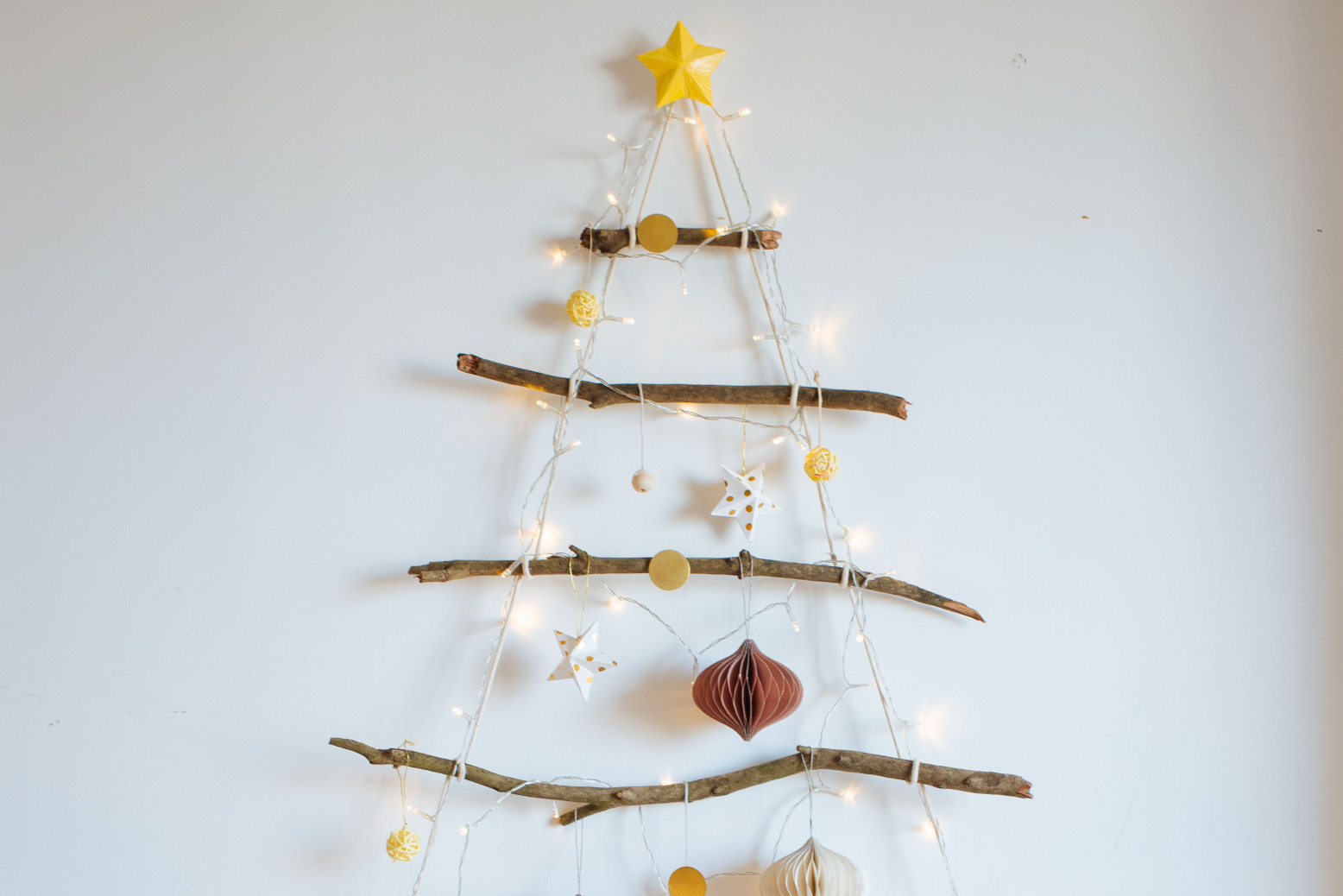 Christmas Hanging Decorations of Tree Branches