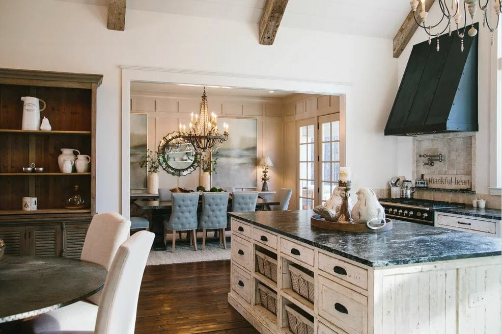 Kitchen with Shabby Chic Interior Design