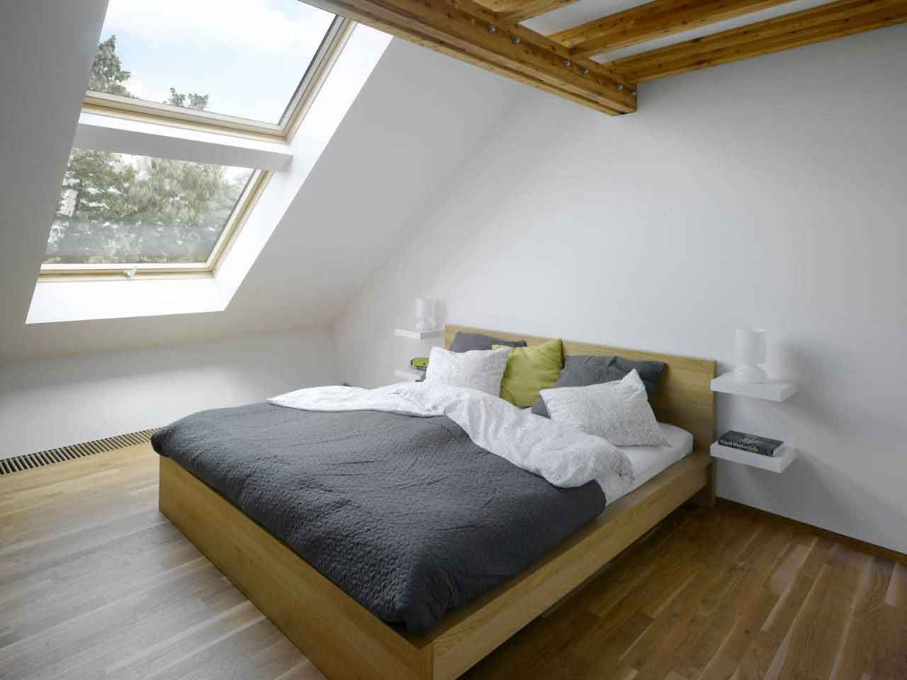 Minimalist Bedroom in the Attic
