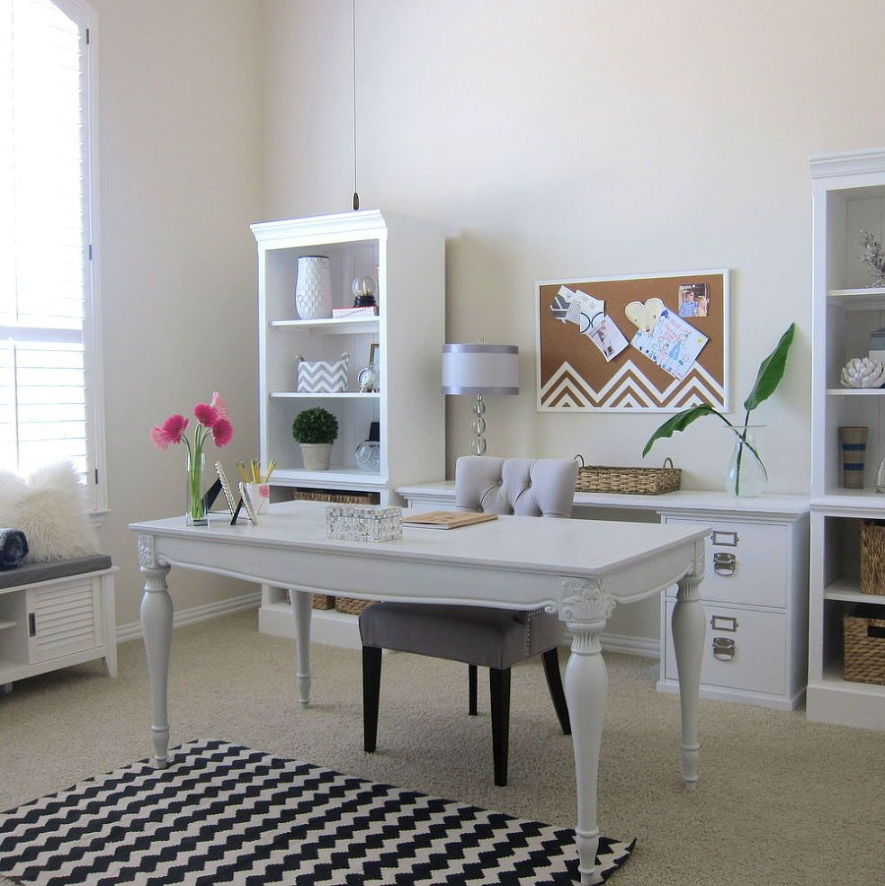 Workspace with Shabby Chic Interior Design