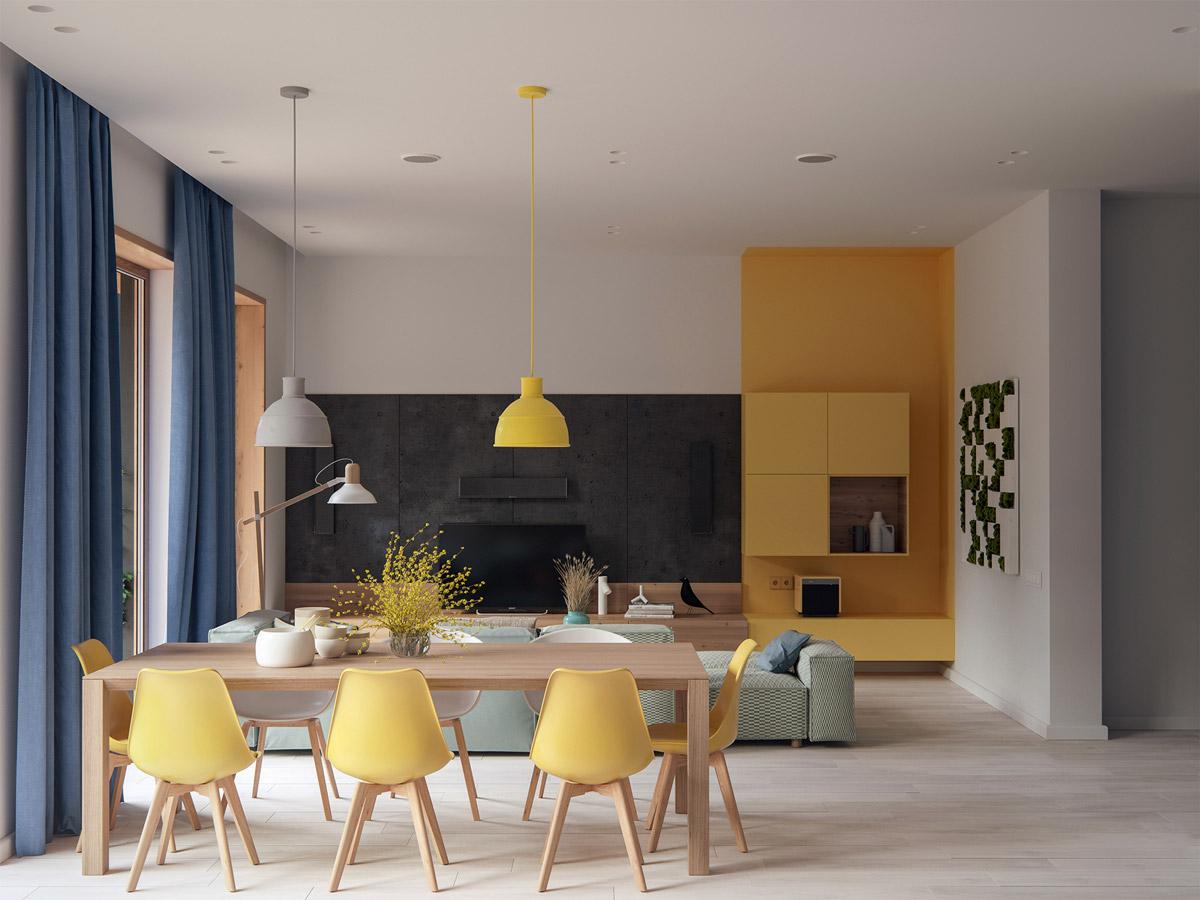 Minimalist Cheerful Dining Room