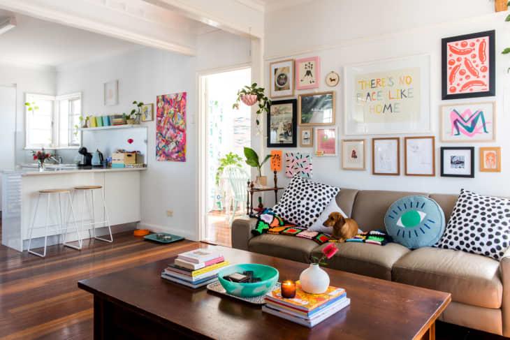 Cheerful Bohemian Living Room