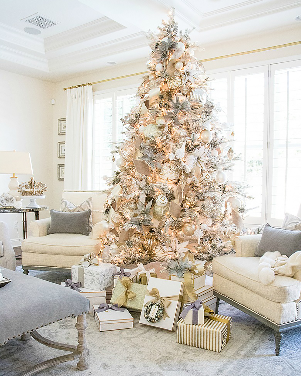 Christmas Tree With Gold Accents