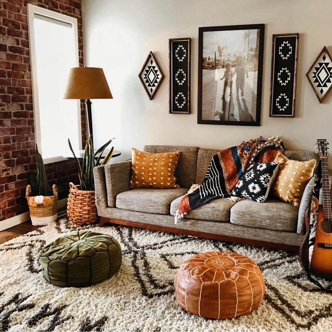 Stylish Bohemian Living Room