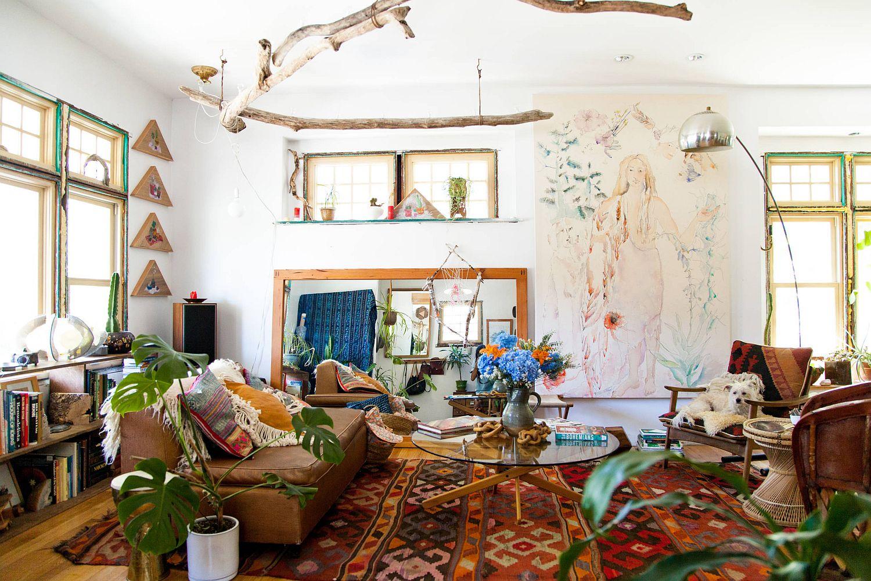 Tropical Bohemian Living Room