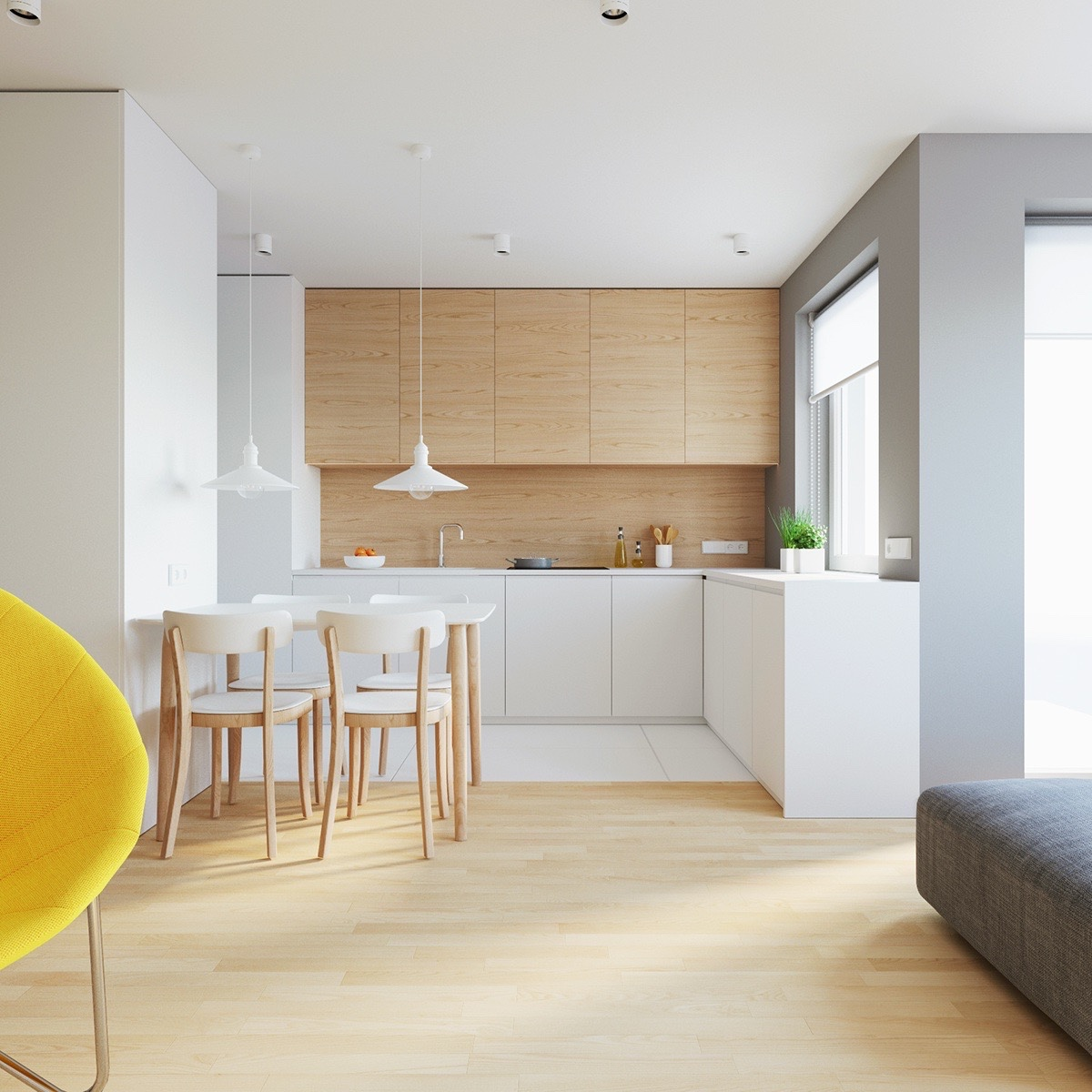 Warm Minimalist Dining Room