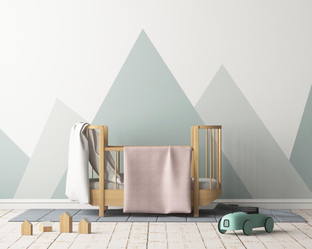 Gray Minimalist Children's Bedroom