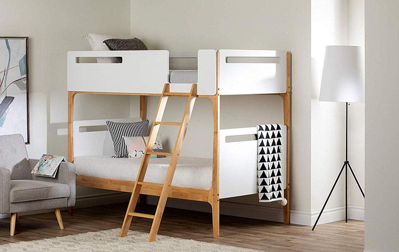 Minimalist Children's Bedroom with Bunkbed