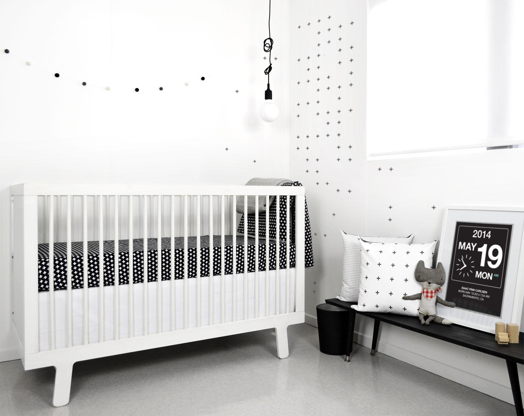Monochrome Minimalist Children's Bedroom