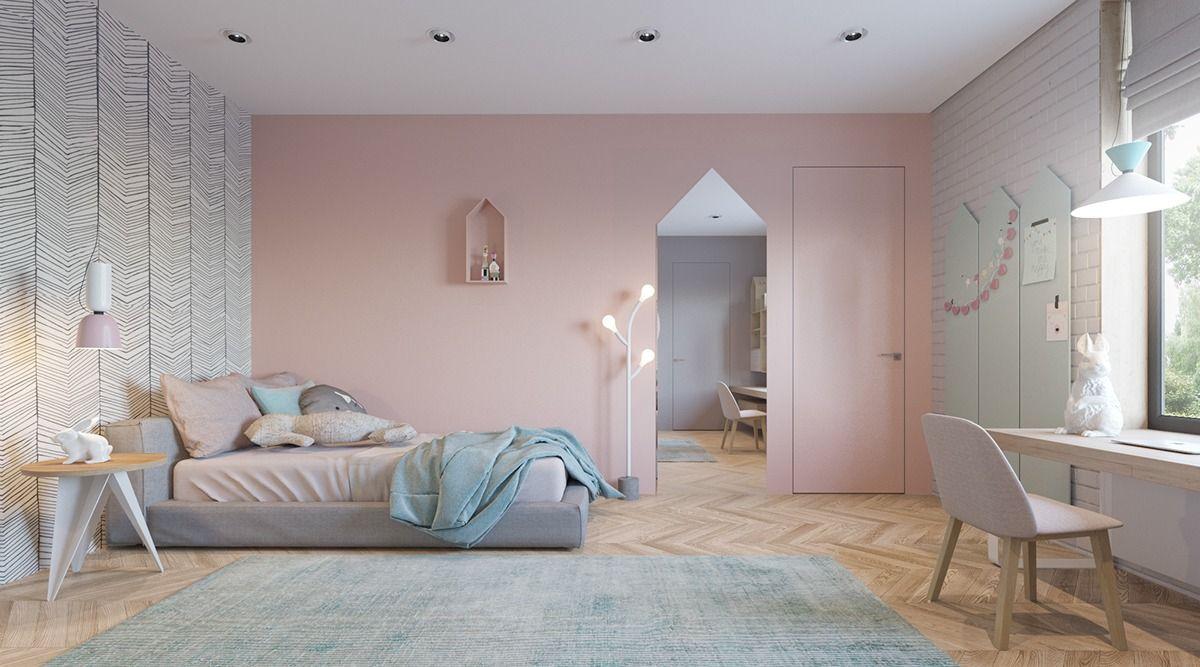 Soft Minimalist Children's Bedroom