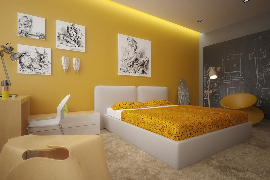 Yellow Small Bedroom