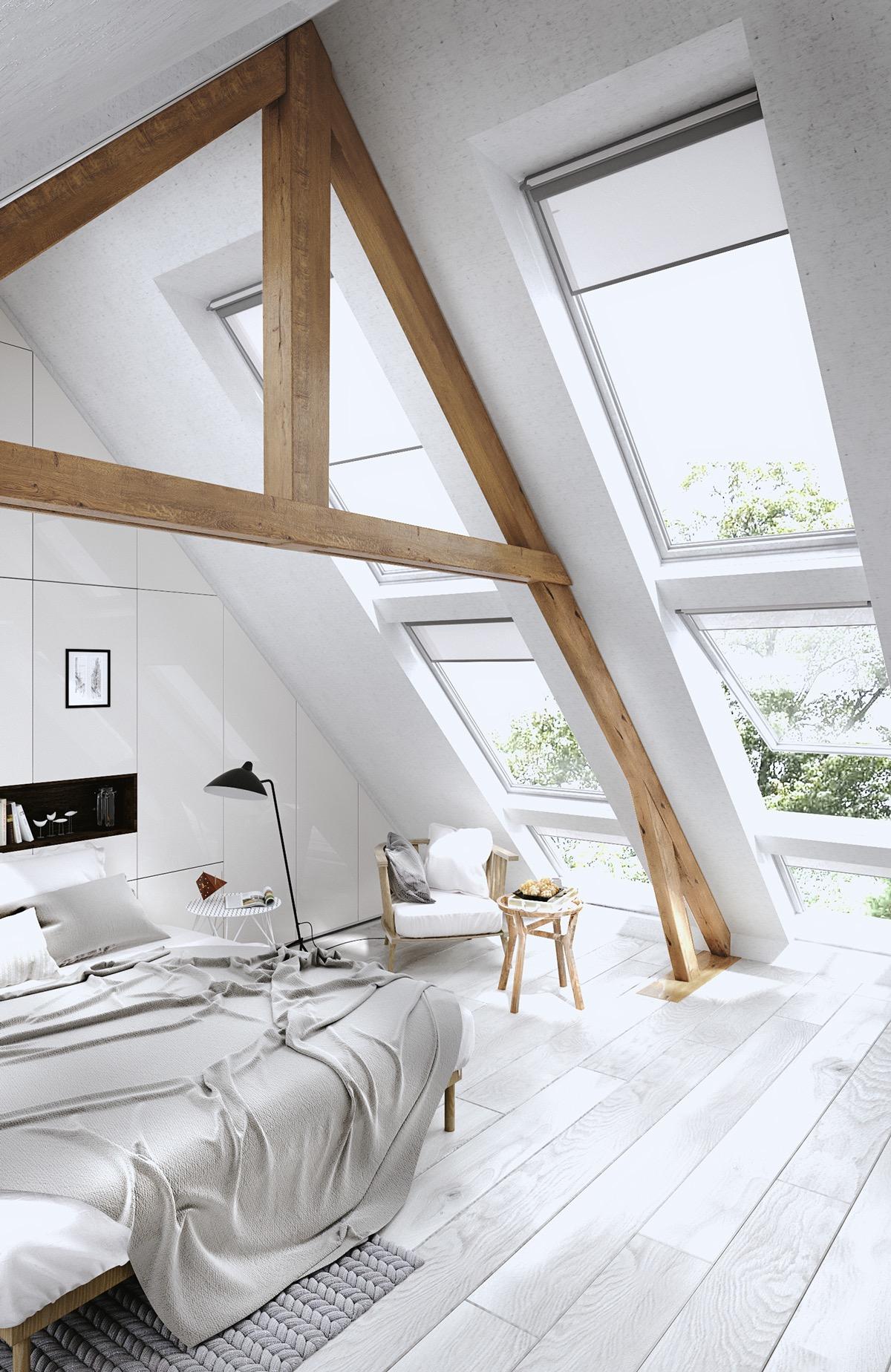 Attic Bedroom with Big Skylight