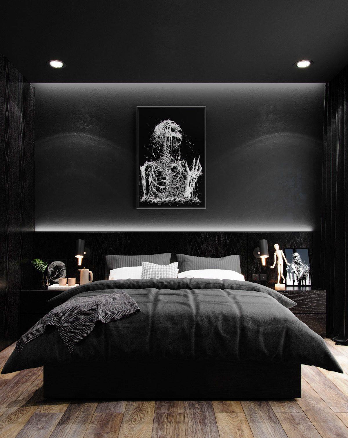 Black Artistic Bedroom